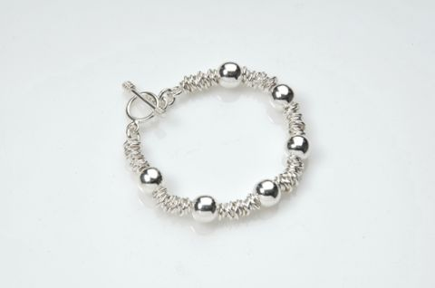 Sterling Silver Sweetie and Beads  Bracelet
